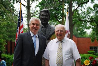 Photo: Eureka College VP Michael Murtagh and alumnus Carl Hirsch, '51