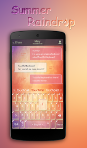 TouchPal Summer Raindrop Theme screenshot 1