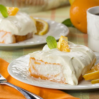 Orange Dream Angel Cake.