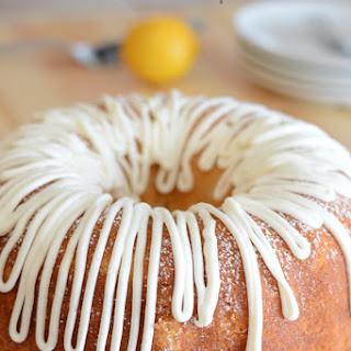 Lemon Cake With Vanilla Cream Cheese Frosting.