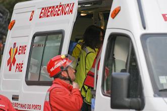 Photo: restantes quatro ocupantes foram levadas para o hospital