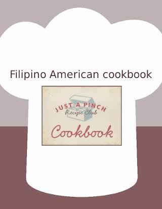 Filipino American cookbook