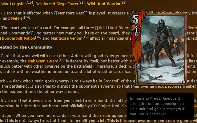 Reddit Gwent Card Preview