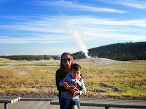 """Photo: The word """"geyser"""" comes from the Icelandic word """"geysa"""", meaning """"to gush"""". The Norse got to name it first, as they saw them on Iceland before Wyoming."""