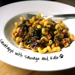 Cavatappi with Sausage and Kale