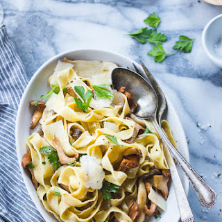Fresh Chickpea Pappardelle with Buttered Chanterelles, Thyme, and Wine {Gluten-Free}