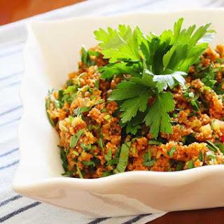Cooked Bulgur Salad.