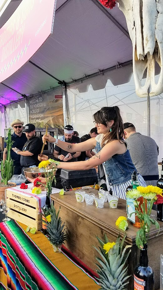 Recap of Feast Night Market 2017: At the Thomas & Sons Distillery booth at Feast Night Market 2017, guests could check out Hellfire & Rhinestone, Bluebird Alpine Liqueur, Smoke Spirit, Pineapple Gomme + Lemon +Tamarind, Blackened Lemon
