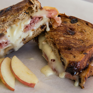 Grilled Camembert, Apple & Prosciutto.
