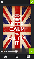 Screenshot of Keep Calm Generator