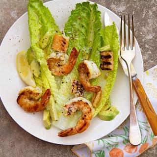 Orange-Cirtus Grilled Shrimp Caesar Salad