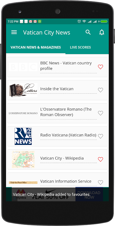 Vatican City Newspapers- screenshot