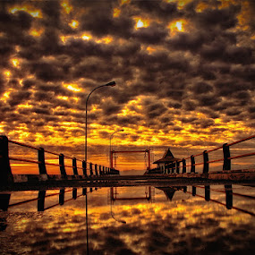 Golden Bridge by Marcell Boli - Landscapes Cloud Formations