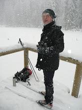 Photo: Reisebegleiter Erwin Aschenbrenner am Lakasee