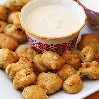 Crispy Fried Jalapeno Slices.