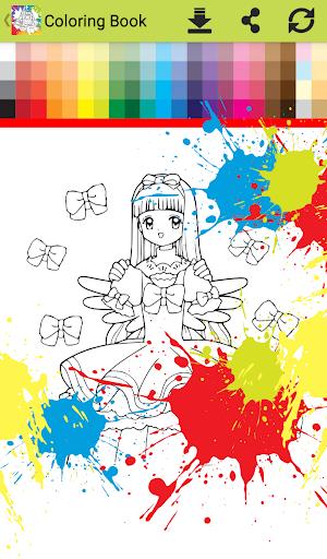 Princess anime Coloring Books for Kids Free Games 1.0 screenshots 12