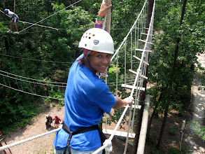 Photo: Swinging Bridge on the High Ropes Course at Camp Toccoa