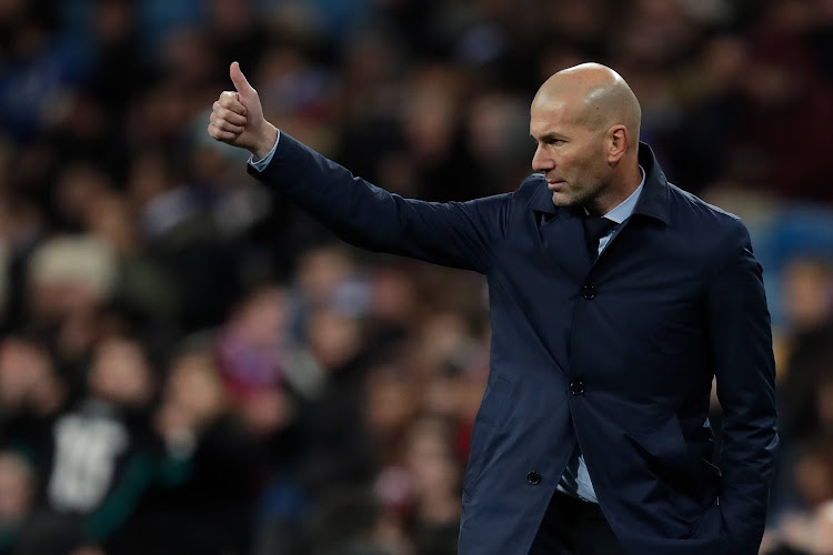 Coach Zinedine Zidane of Real Madrid during the Spanish Copa del Rey match between Real Madrid v Numancia on January 10, 2018.