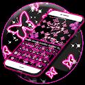 Neon Butterflies Keyboard icon