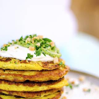 Cheesy Mashed Potato Pancakes.