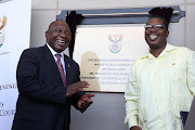"President Cyril Ramaphosa and acting Gauteng premier and basic education MEC Panyaza Lesufi officially opened the newly built ""state-of-the-art"" Booysens magistrate's court in Oakdene on Thursday."