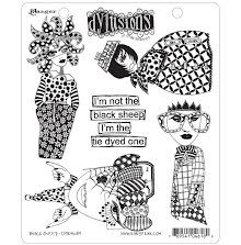 Dylusions Cling Stamps 8.5X7 - Black Sheep