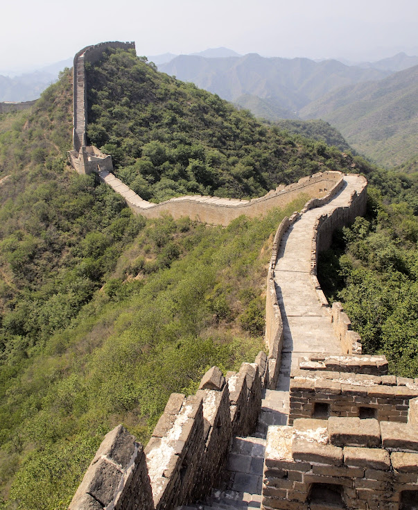 I read that it can get crowded on the Great Wall. I think it's true on the sections closer to Beijing (Badaling and even Mutianyu), but out here there was often just me and the endless wall.