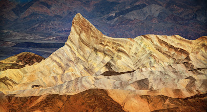 Photo: The upswept peak in Death Valley  I posted another photo from Death Valley yesterday... here is another nearby location that still made me feel like I was on an alien planet.