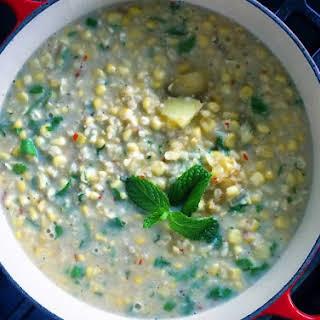 Wicked Thai Chili Creamed Corn with Coconut (Vegan, Oil free).