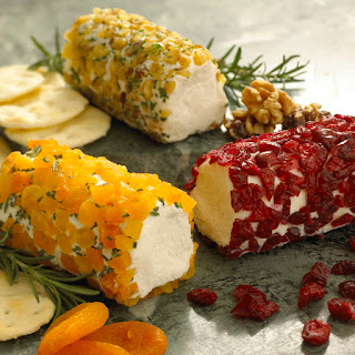 Goat Cheese Log Rolled in Dried Apricot & Rosemary.