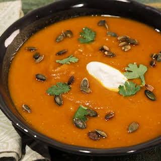 Roasted Curried Pumpkin Soup.