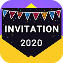Invitation maker 2020 Birthday & Wedding card Free icon