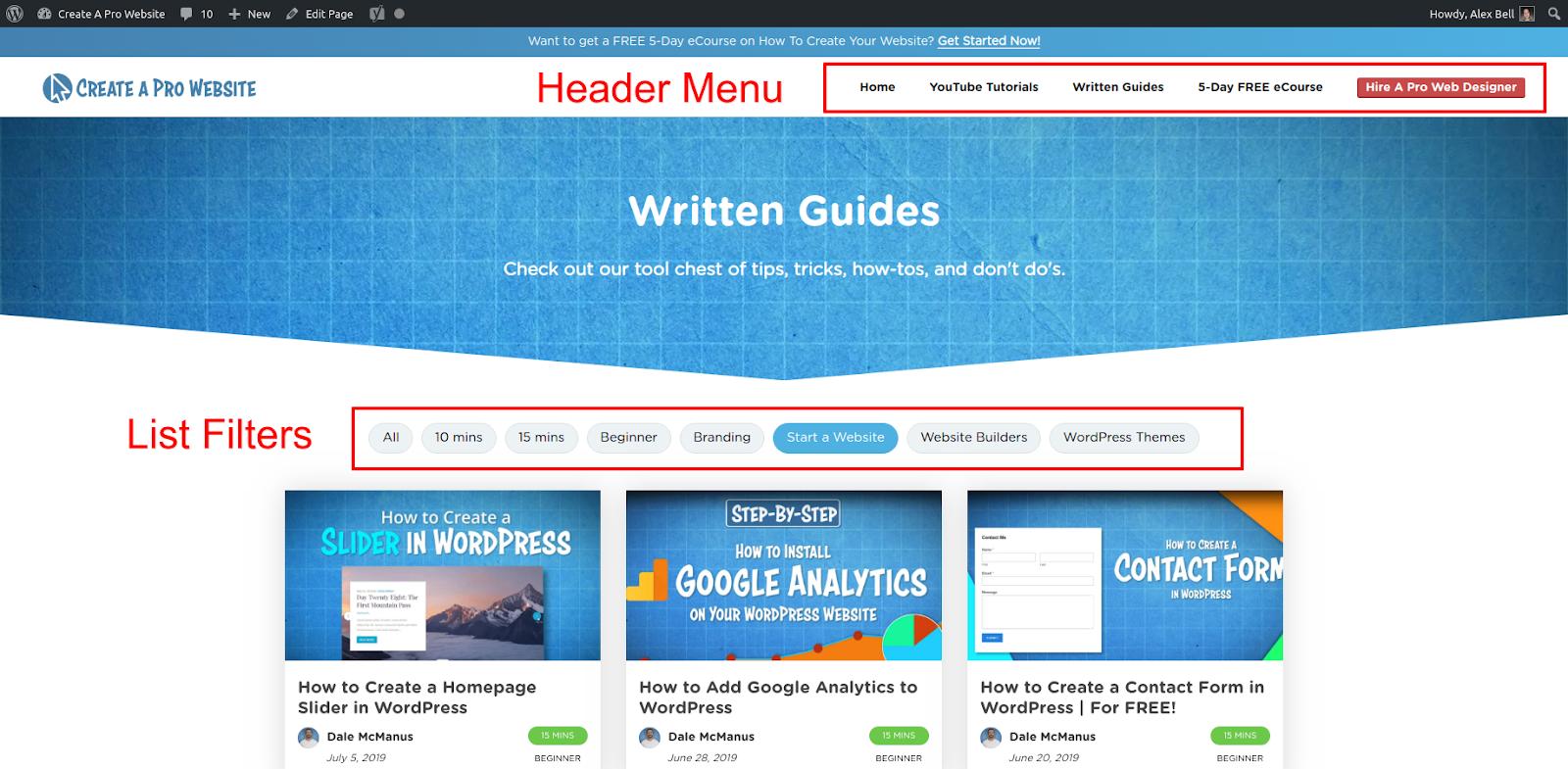 how to design a website navigation