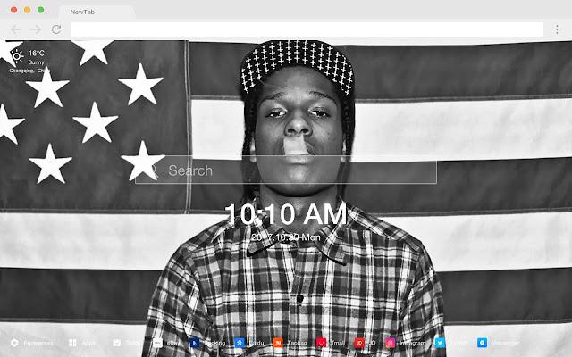 A$AP ROCKY Hip Hop Star HD Wallpaper Theme