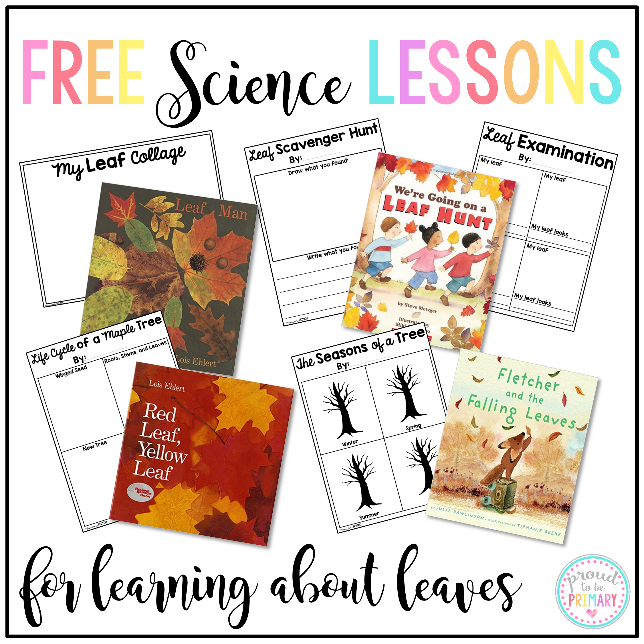 free science lessons for learning about leaves
