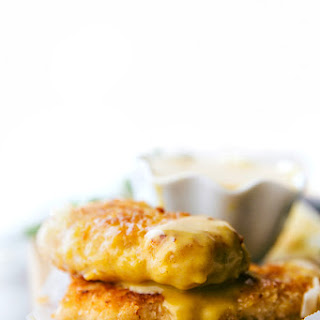 Baked Coconut Crusted Chicken Tenders with Creamy Honey Mustard Dipping Sauce