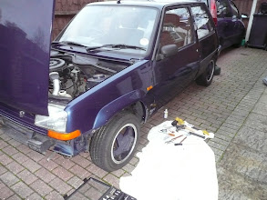 Photo: Renault 5 Gt Turbo Raider wing fitted.. and Arch also added.