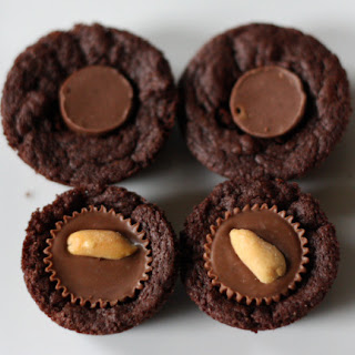 Peanut Butter (or Caramel) Candy Mini Brownie Cups