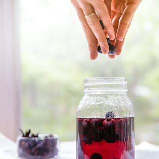 Tea Infused Blueberries {so many uses!}