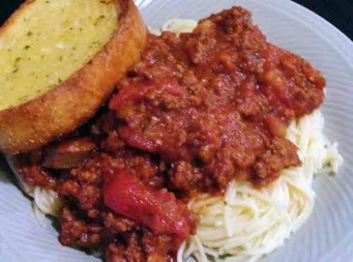 "Mom's Spaghetti Sauce""This was very tasty!! I love the little kick the..."