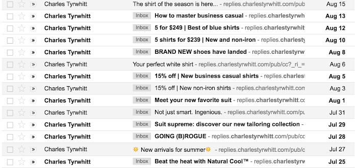 Blast emails in inbox