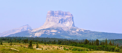 Photo: Wednesday - view of Chief Mountain on our way to Belly River Trail