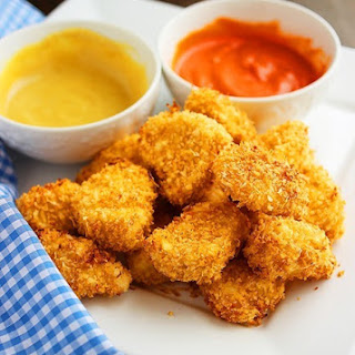 Crispy Baked Chicken Nuggets.