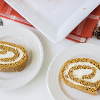 Pumpkin Roll Cake with Ginger Buttercream