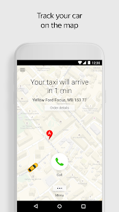 Yandex.Taxi Ride-Hailing Service Screenshot