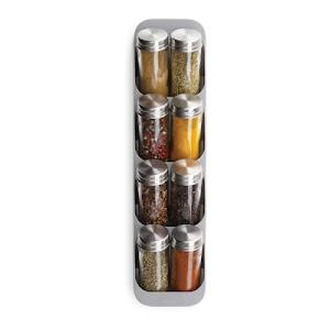 Organizator pentru condimente, 8 compartimente, Gri
