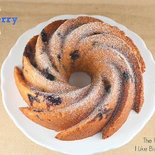 Lemon Blueberry Ricotta Bundt Cake