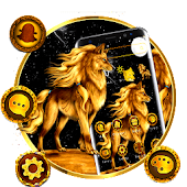 Golden Wolf Launcher Theme ? Android APK Download Free By ThemesDesignStudio