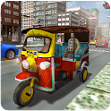 Tuk Tuk Rickshaw Open Air Taxi - Tourist Transport icon