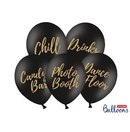 Ballong Party mix, svart